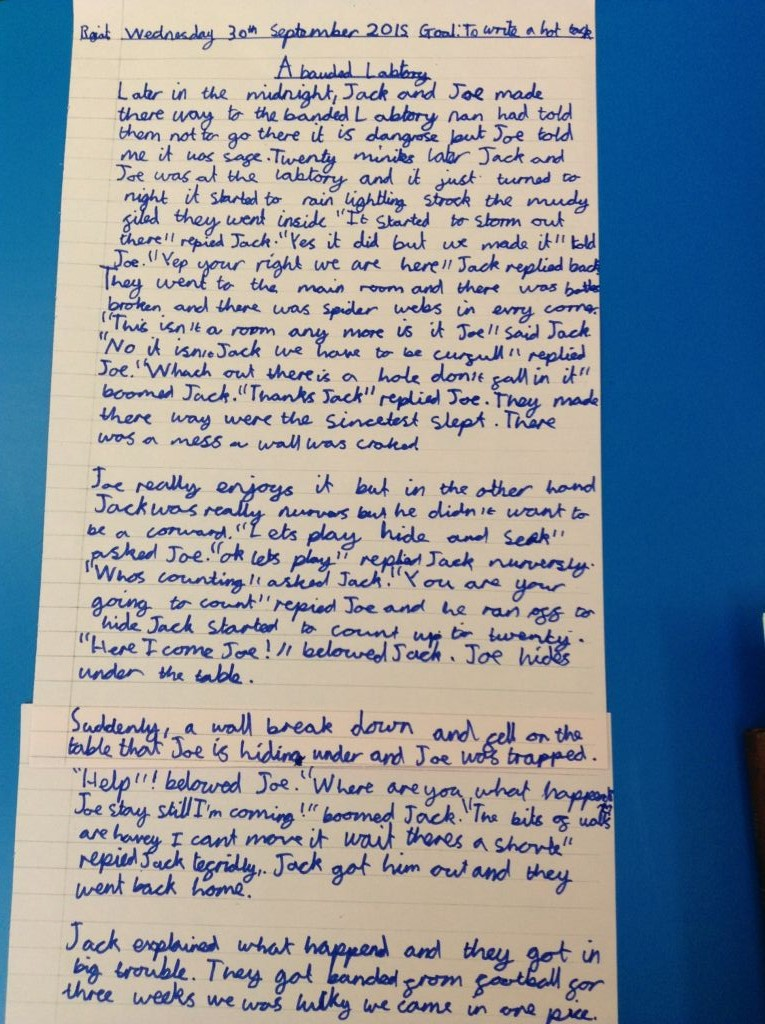 year 6 story writing